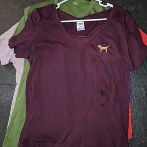 Maroon Bling VS pink shirt